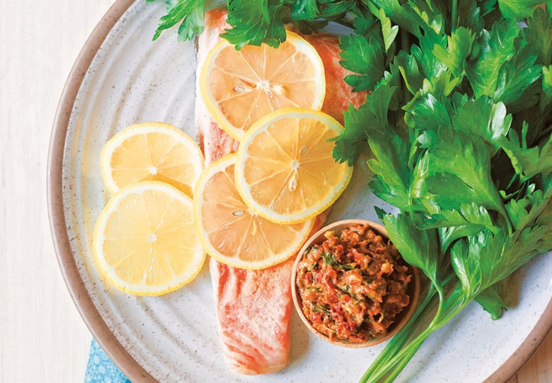 Sun-Dried Tomato Pesto Salmon in the Instant Pot :: Gluten-Free, Grain-Free, Dairy-Free Option