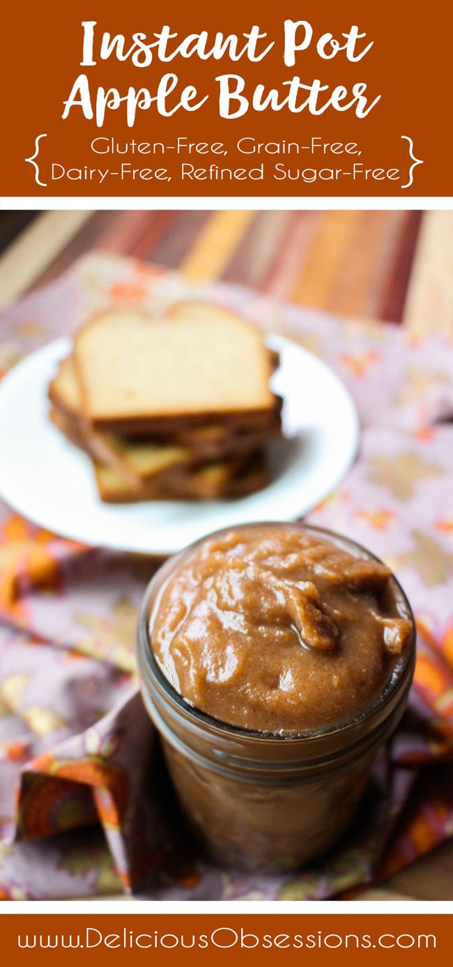 Instant Pot Apple Butter :: Gluten-Free, Grain-Free, Dairy-Free, Refined Sugar-Free // deliciousobsessions.com