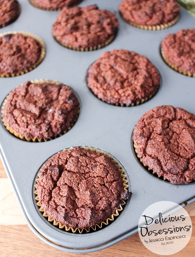 Double Chocolate Pumpkin Protein Muffins :: Gluten-Free, Grain-Free, Dairy-Free, Refined Sugar-Free // deliciousobsessions.com