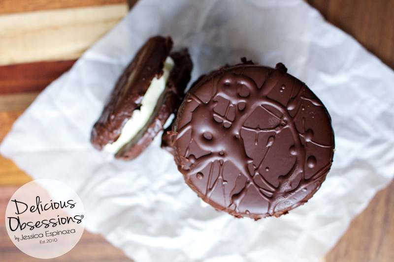 """""""Thin Mint""""® Sandwich Cookies :: Gluten-Free, Grain-Free, Dairy-Free, Refined Sugar-Free // deliciousobsessions.com"""