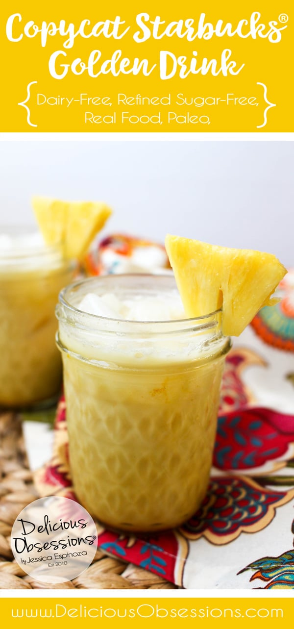 Copycat Starbucks Golden Drink :: Gluten-Free, Dairy-Free, Refined Sugar Free // deliciousobsessions.com