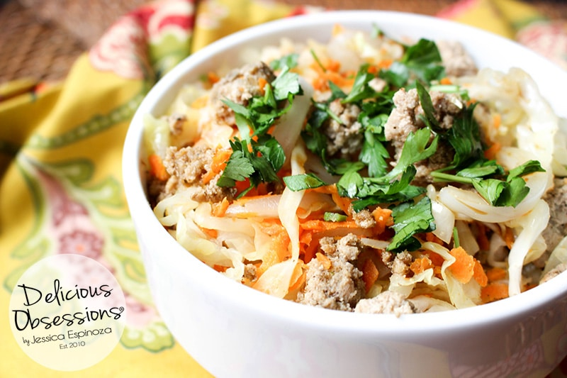 Easy Egg Roll in a Bowl :: Gluten-Free, Grain-Free, Dairy-Free, Soy-Free // deliciousobsessions.com