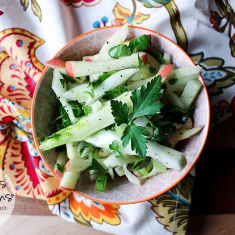 Fennel and Apple Slaw :: Gluten-Free, Grain-Free, Dairy-Free // deliciousobsessions.com