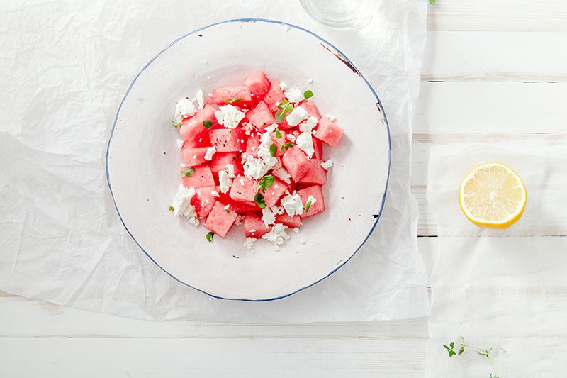 Easiest Watermelon Salad :: Gluten-Free, Grain-Free, Dairy-Free Option